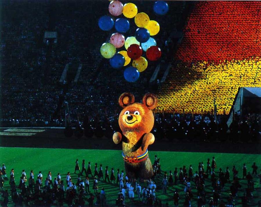 Олимпийский мишка 80