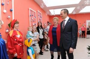 Открытие четырех детских садов