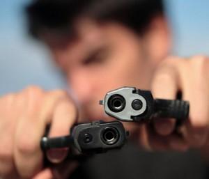 Похищены пистолеты