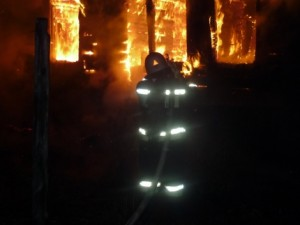 Дом сгорел до тла